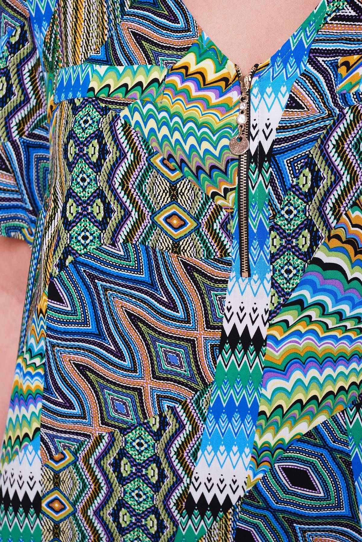 Летний брючный костюм ДОННА зеленый